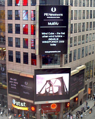 WindCube Debut in Times Square