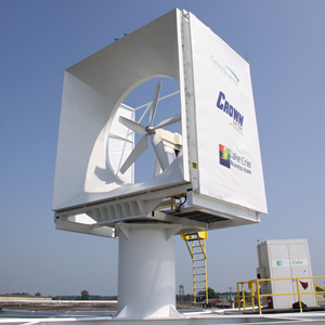 Windcube rooftop wind turbine